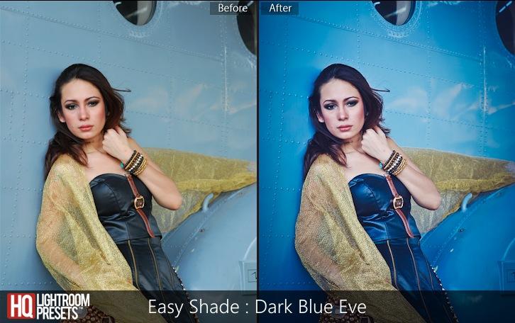 lightroom presets-Easy Shade - Dark Blue Eve