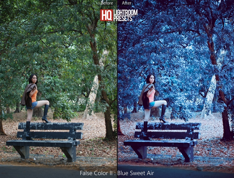 rouges lightroom presets bleu-infra-